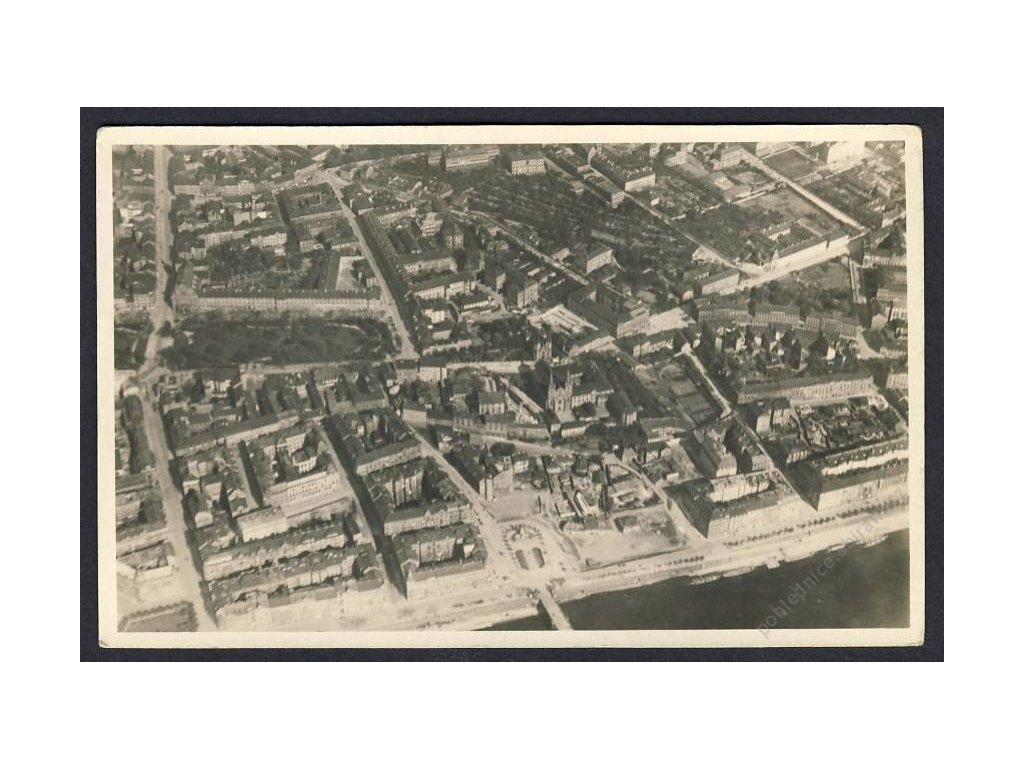 49 - Praha, Nové město, pohled ze letadla, nakl. Klub čsl. turistů v Praze, cca 1922