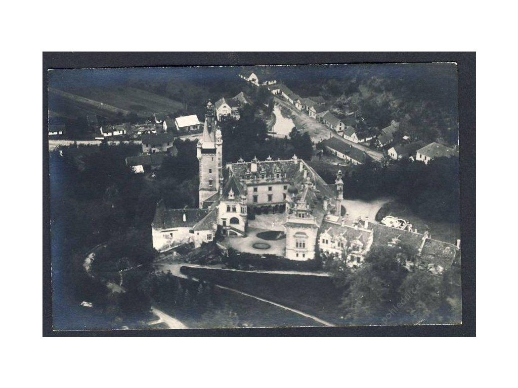51 - Praha-západ, Průhonice, zámek, pohledy z letadla, nakl. Klub čsl. turistů, cca 1922