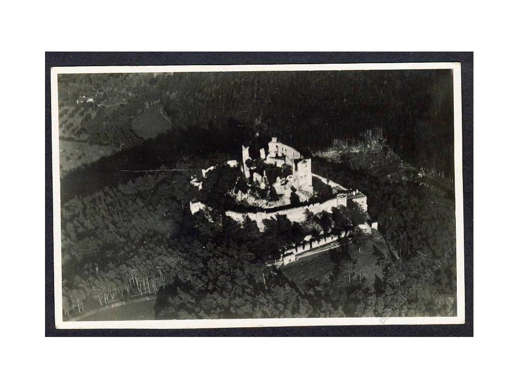 03 - Blansko, hrad Boskovice, pohledy z letadla, nakl. Klub čsl. turistů, cca 1922