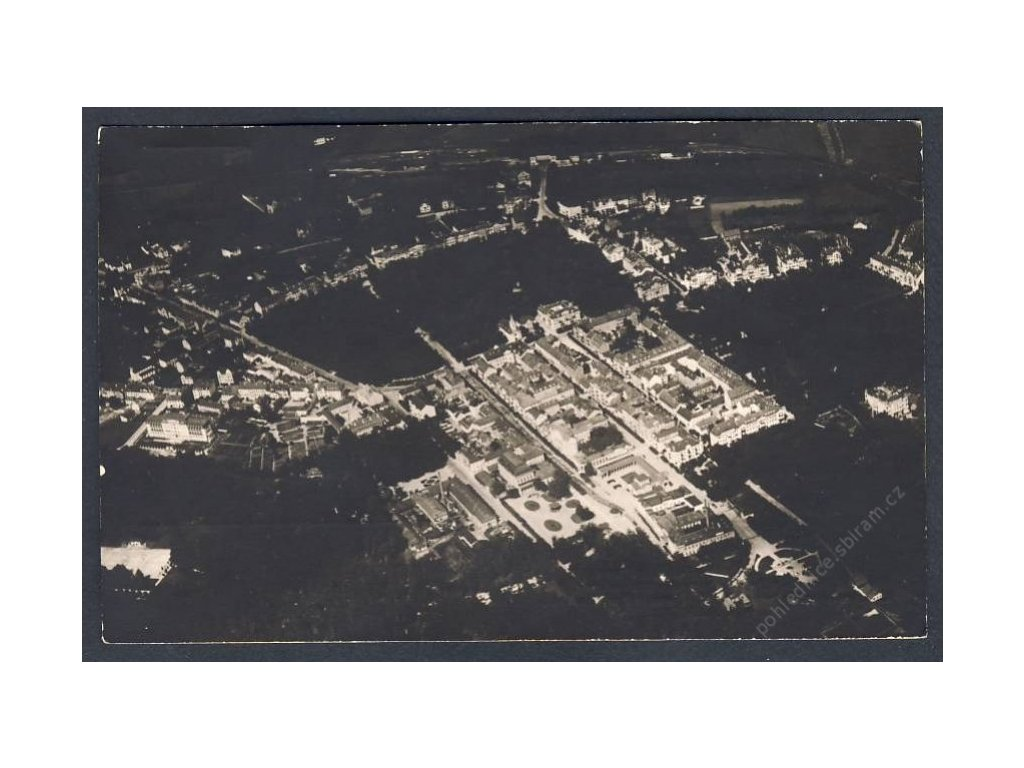 08 - Chebsko, Františkovy lázně, pohledy z letadla, nakl. Klub čsl. turistů, cca 1922