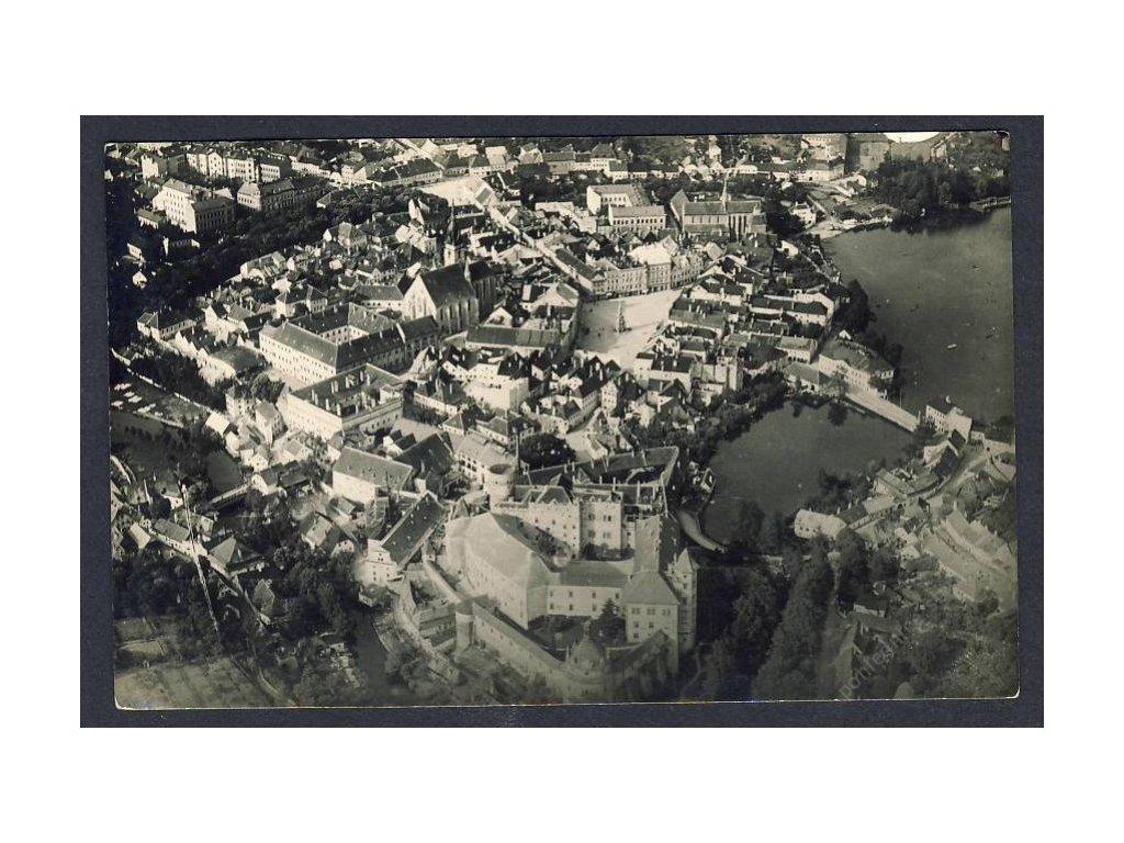 24 - Jindřichův Hradec, pohledy z letadla, nakl. Klub čsl. turistů v Praze, cca 1922