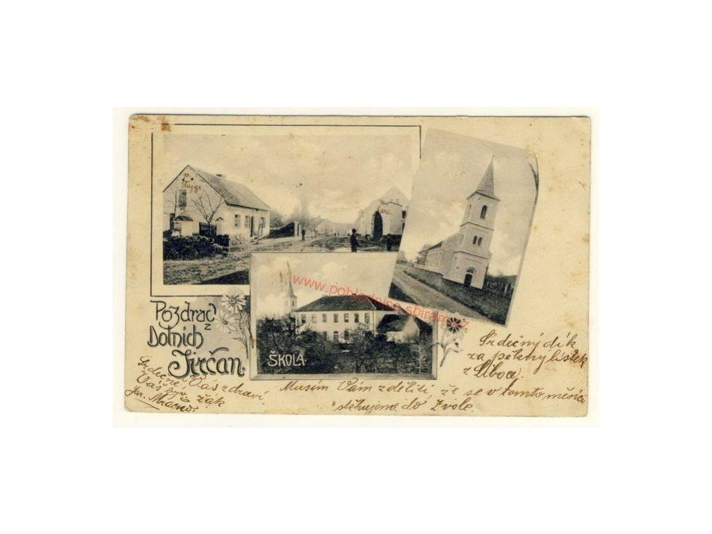 51 - Praha - západ, Dolní Jirčany, 3 - záběrová koláž, ca 1905
