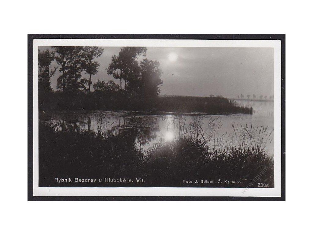 12 - Českobudějovicko, rybník Bezdrev u Hluboké nad Vltavou, foto Seidel č.2306
