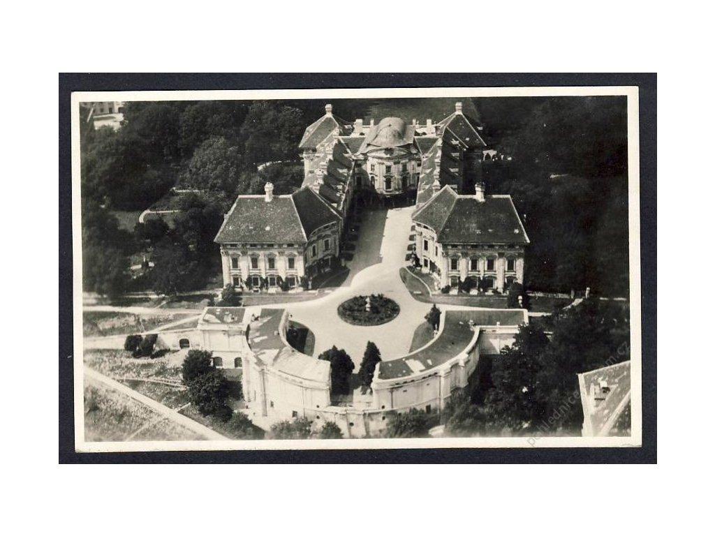 72 - Vyškovsko, zámek Slavskovský, pohledy z letadla, nakl. Klub čsl. turistů, cca 1922