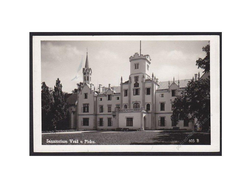 46 - Písecko, Vráž, sanatorium, foto Fon, cca 1940