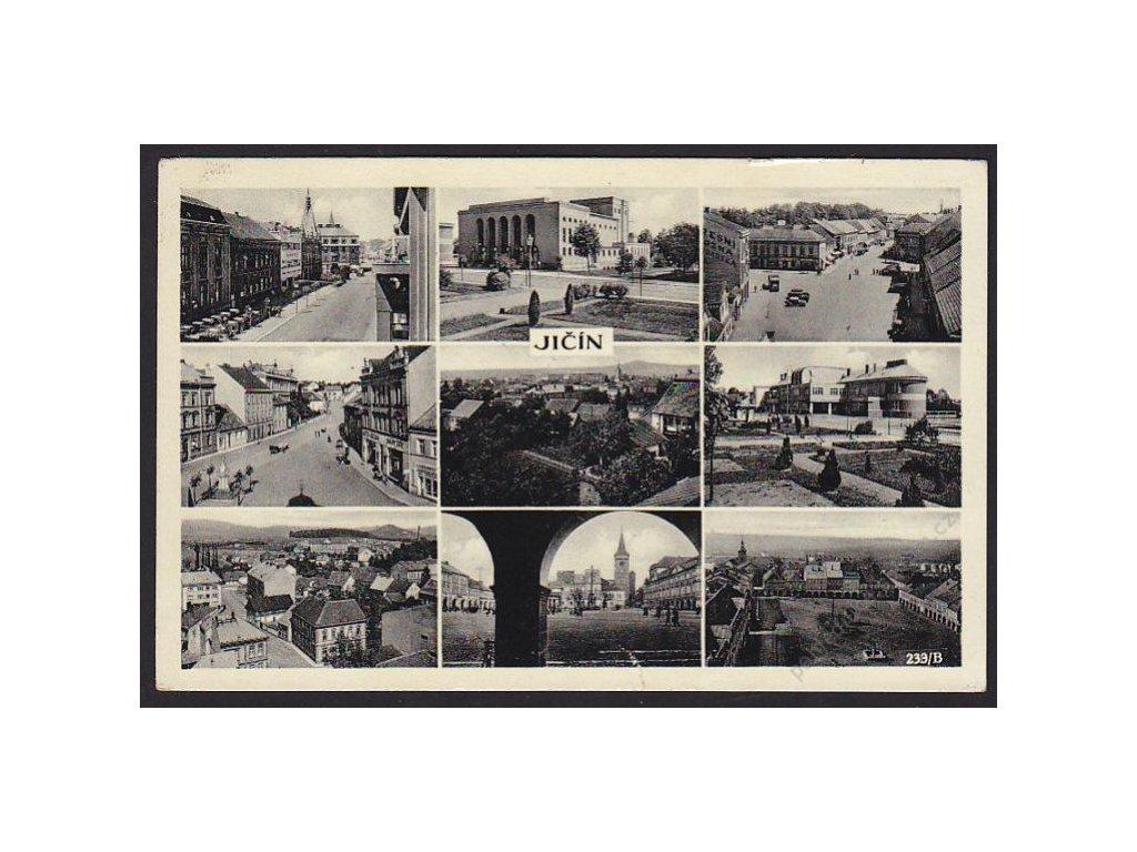 22 - Jičín, části města, cca 1938