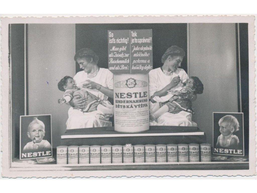 Reklamní pohlednice, Nestle - dětská výživa, cca 1930