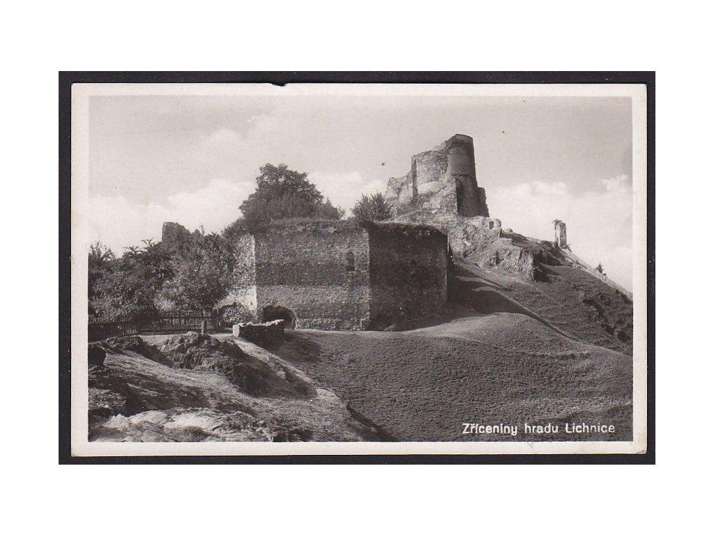 10 - Chrudimsko, zříceniny hradu Lichnice, cca 1940