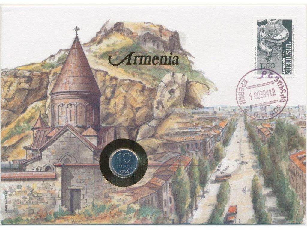Arménie,mincovní dopis,rozměr 12,7 x 17,7 cm,1994,sběratelský stav