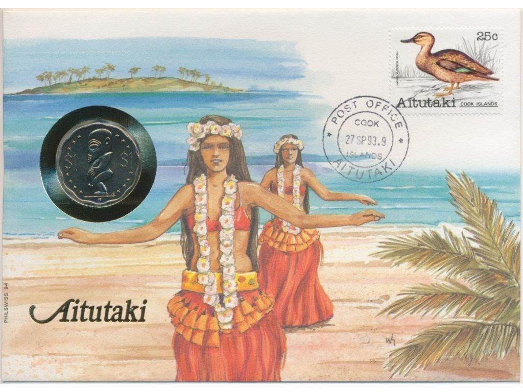 Aitutaki,mincovní dopis,rozměr 12,7 x 17,7 cm,1993,sběratelský stav