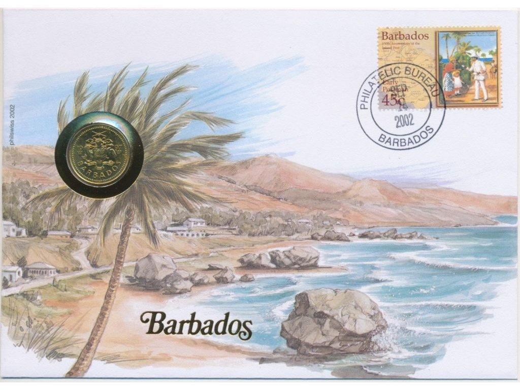 Barbados,mincovní dopis,rozměr 12,7 x 17,7 cm,2002,sběratelský stav