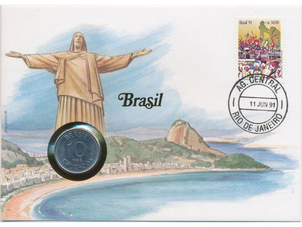 Brazilie,mincovní dopis,rozměr 12,7 x 17,7 cm,1991sběratelský stav