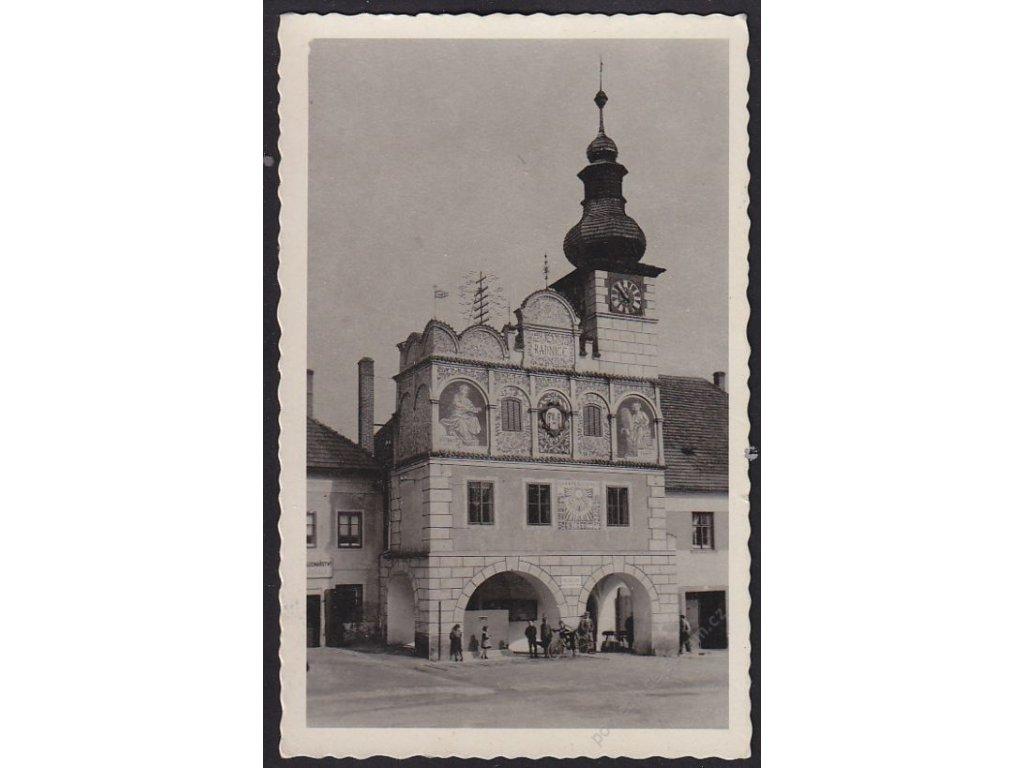 60 - Strakonicko, Volyně (Wolin), radnice (Radhaus), cca 1940