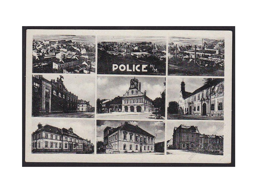 38 - Náchodsko, Police nad Metují, části města, cca 1940