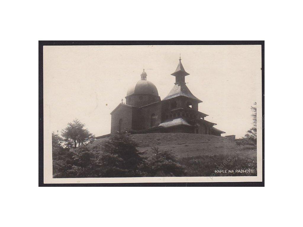 39 - Novojičínsko, Radhošť, kaple, cca 1934