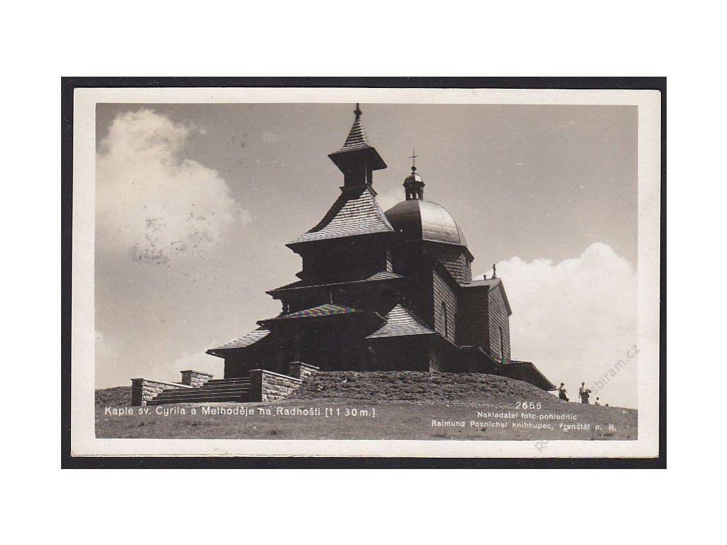 39 - Novojičínsko, Radhošť, kaple sv. Cyrila a Metoděje, foto Fon, cca 1934