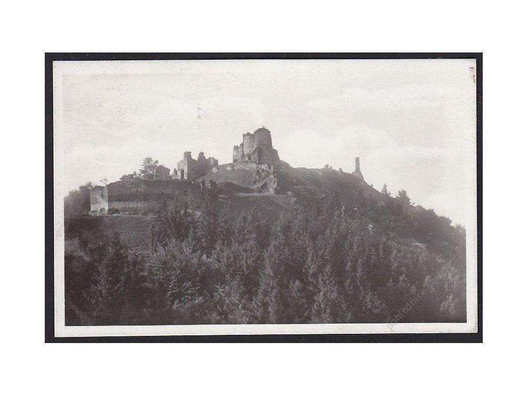 10 - Chrudimsko, zříceniny hradu Lichnice, grafo Čuda, cca 1940