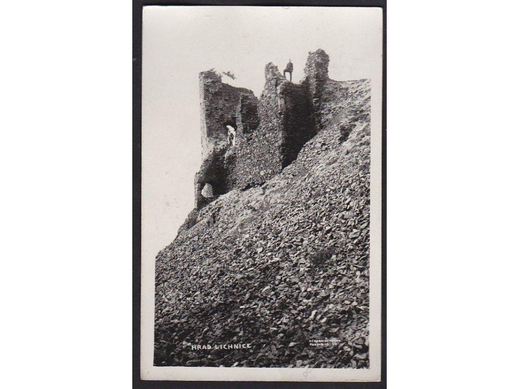 10 - Chrudimsko, zříceniny hradu Lichnice, cca 1934