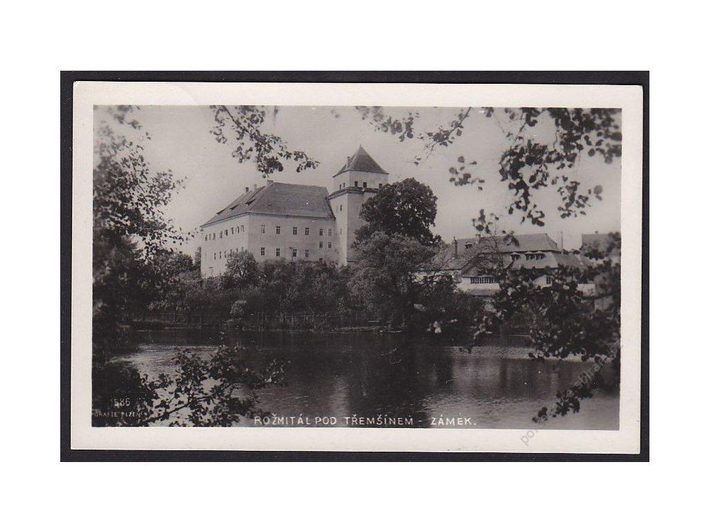 54 - Příbramsko, Rožmitál pod Tremšínem, zámek, cca 1930