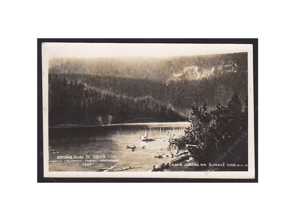 28 - Šumava, Černé jezero, foto Fon, cca 1929