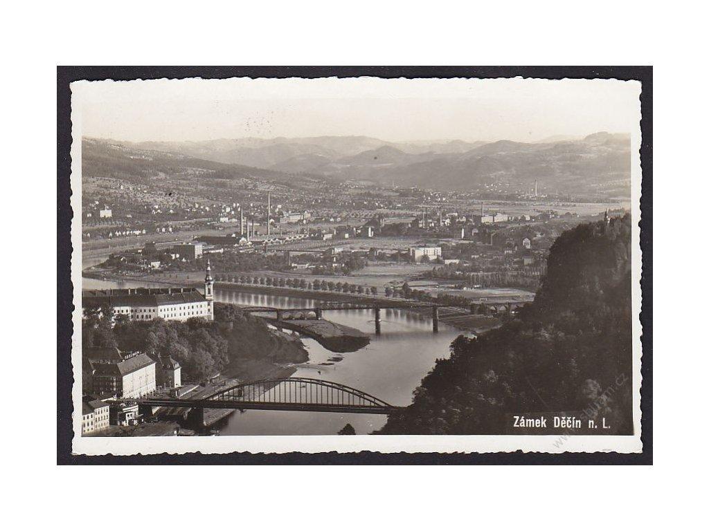 14 - Děčín, zámek Děčín, cca 1935