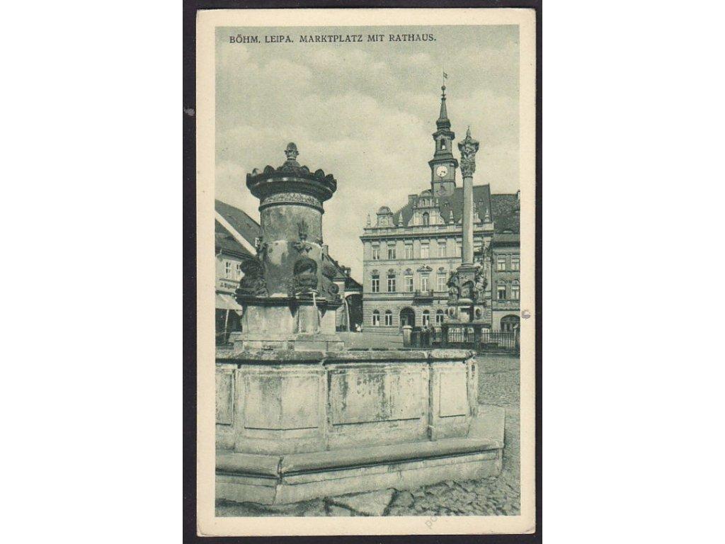11 - Česká Lípa, radnice a náměstí, cca 1930