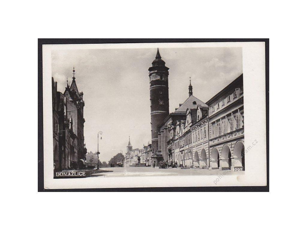 15 - Domažlice, náměstí, cca 1935