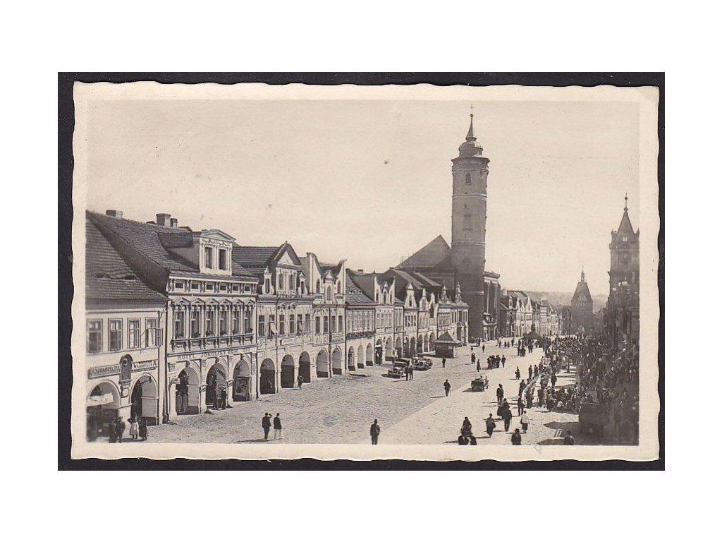 15 - Domažlice (Taus), náměstí, cca 1940