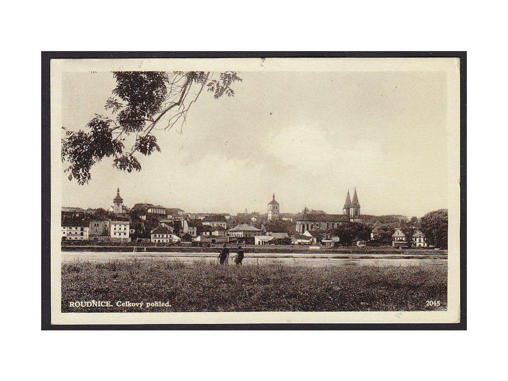 33 - Litoměřicko, Roudnice nad Labem, celkový pohled, cca 1928