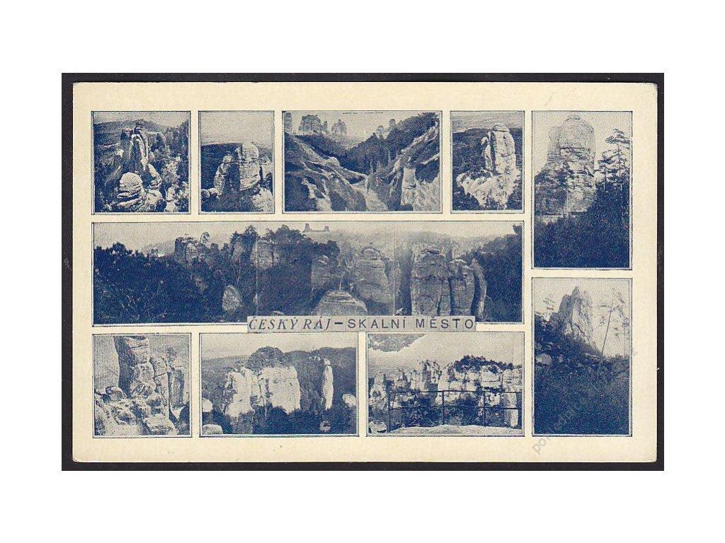 58 - Semilsko, Český Ráj, Skalní město, nakl. Krejčík, cca 1936