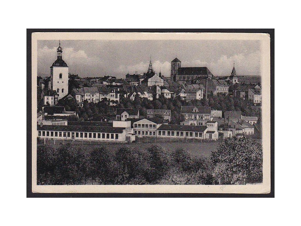58 - Semilsko, Turnov (Turnau), pohled na město, cca 1940