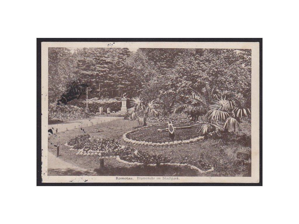 09 - Chomutov (Komotau), městský park, cca 1930
