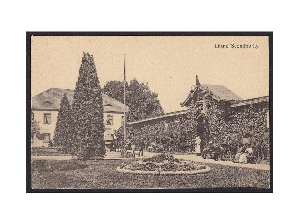 58 - Semilsko, lázně Sedmihorky, nakl. Polívka, cca 1925