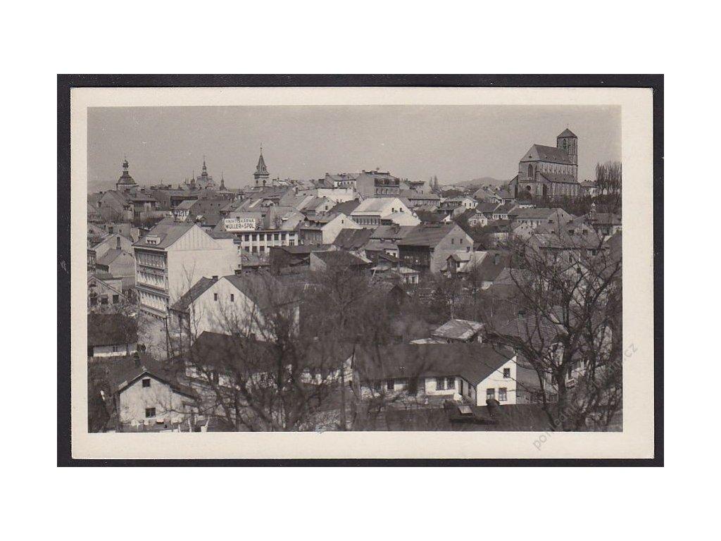 58 - Semilsko, Turnov (Turnau), pohled na město, foto Fon, cca 1930