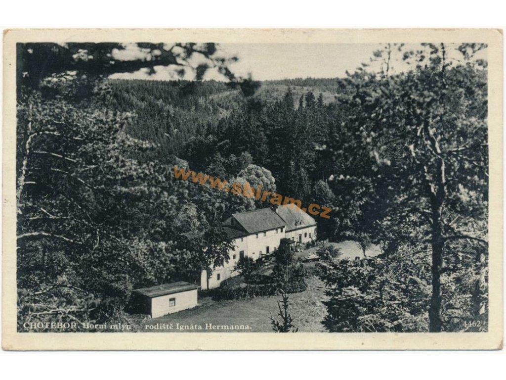 17 – Havlíčkobrodsko, Chotěboř, Horní mlýn, ca 1935