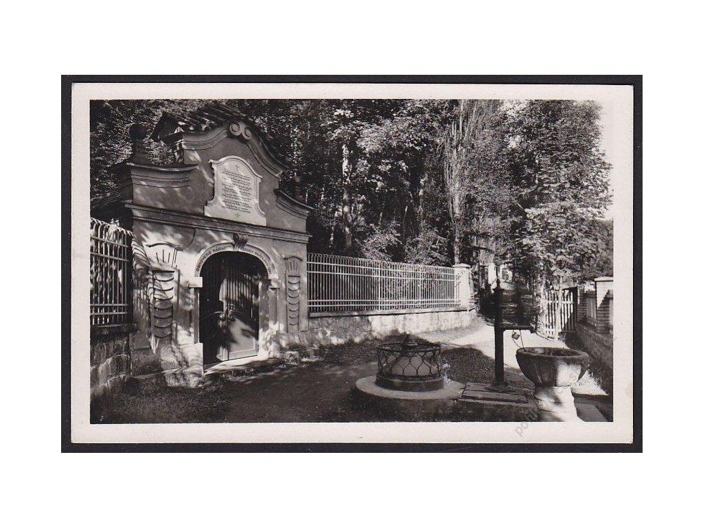 29 - Kolínsko, Sázava, Černé Budy, Studánka sv. Prokopa, Fototypia, cca 1935