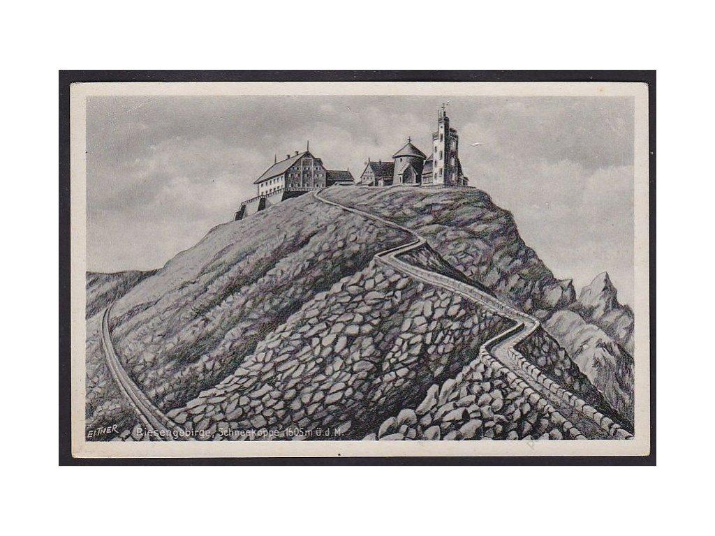 66 - Trutnovsko, Krkonoše, Sněžka (Riesengebirge, Schneekoppe), cca 1943