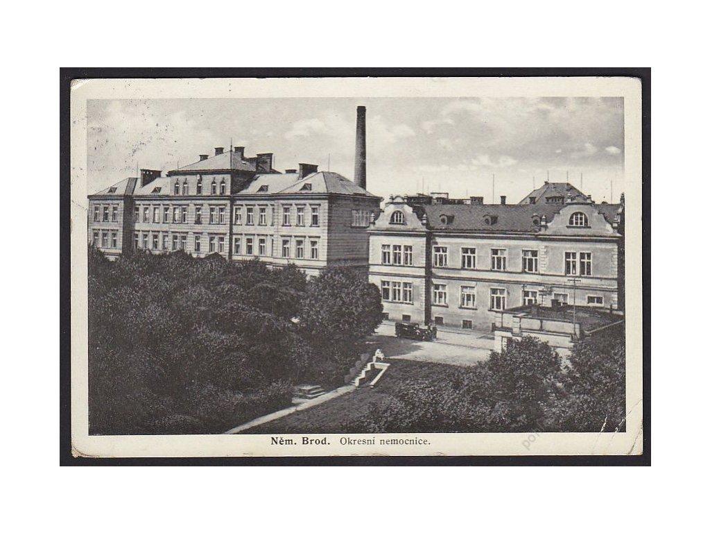 17 - Havlíčkobrodsko, Německý Brod, okresní nemocnice, cca 1938