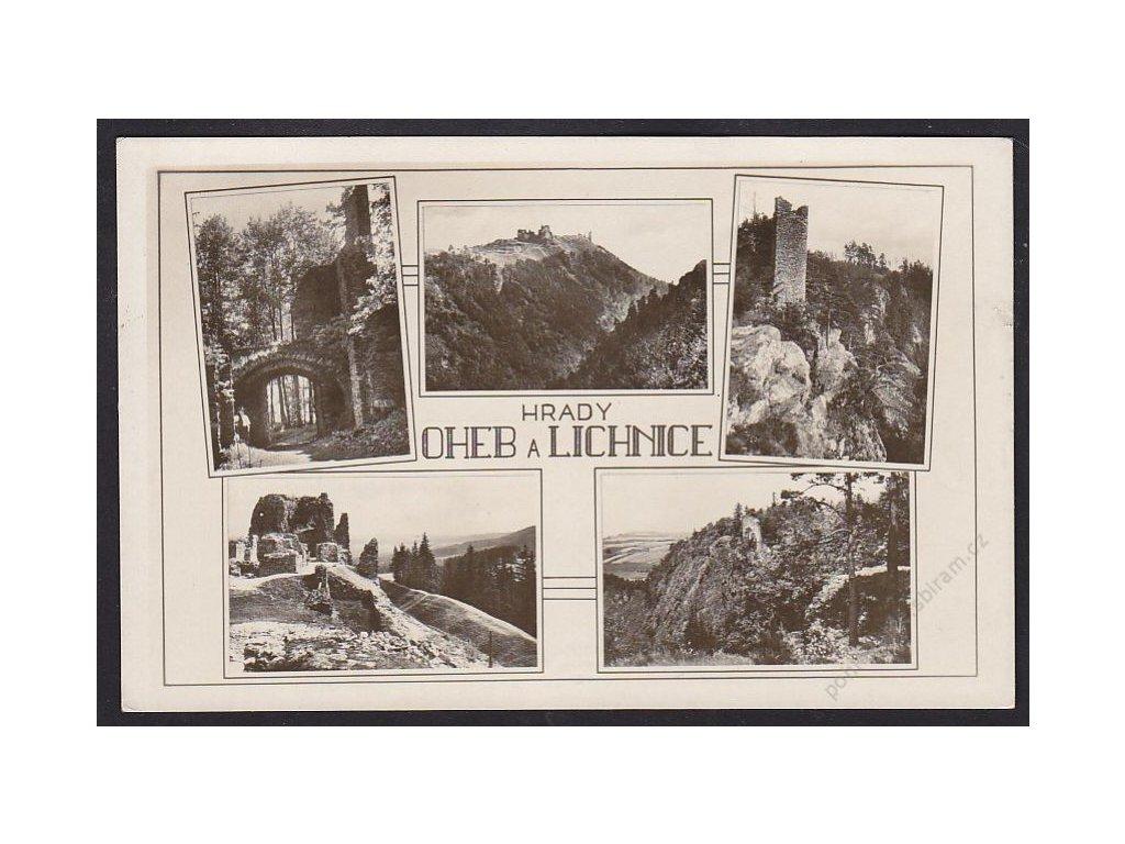 10 - Chrudimsko, hrady Oheb a Lichnice, cca grafo Čuda, cca 1930