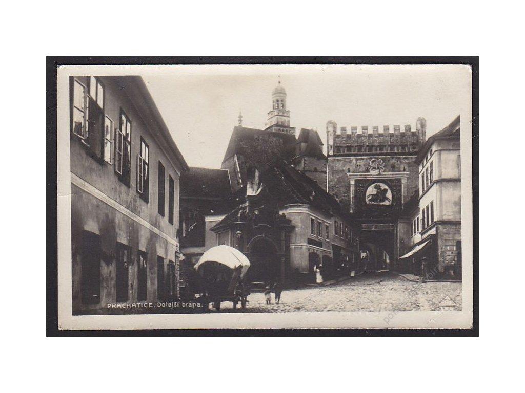 48 - Prachatice, Dolejší brána, cca 1930