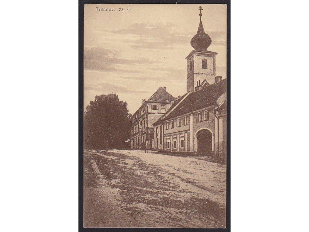 15 - Domažlicko, Trhanov, zámek, cca 1921