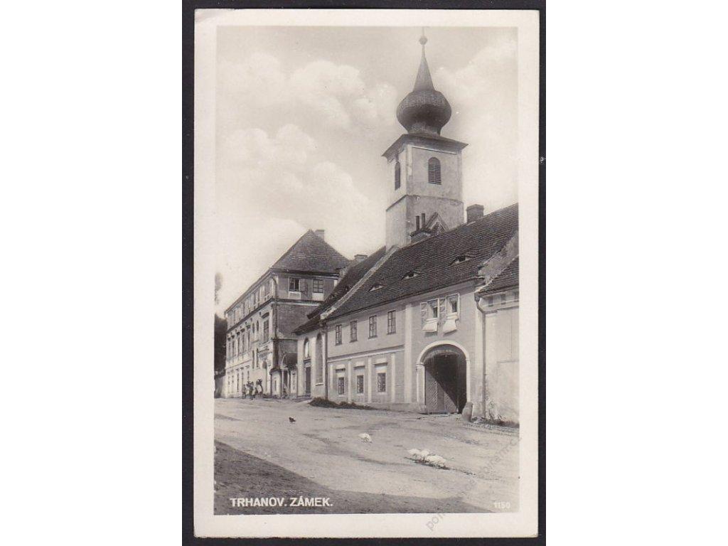 15 - Domažlicko, Trhanov, zámek, cca 1935