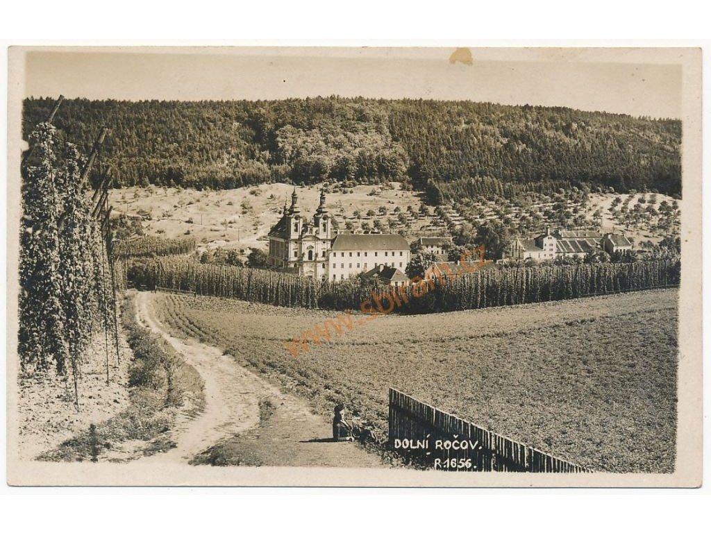 34 - Lounsko, Dolní Ročov, celkový pohled, cca 1930