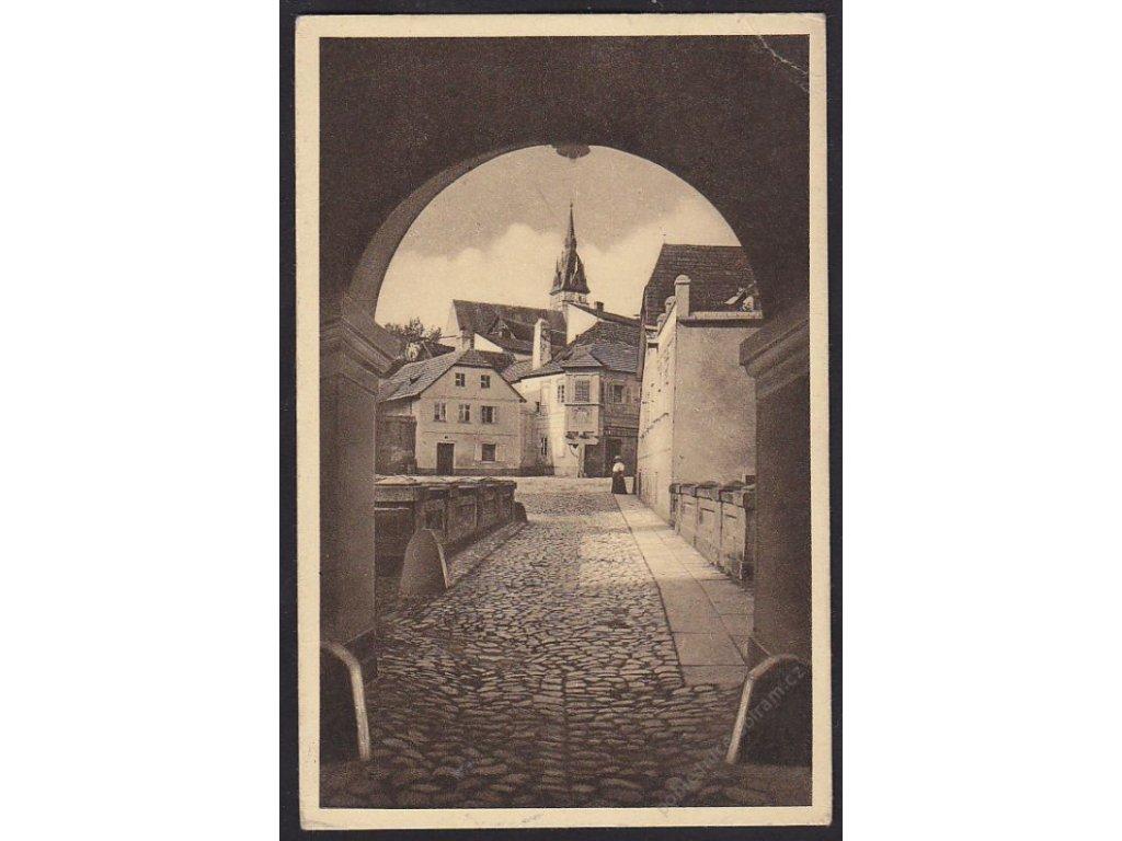 24 - Jindřichův Hradec (Neuhaus), uvnitř města, cca 1922