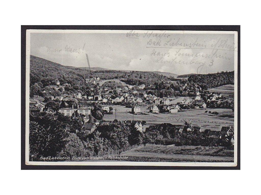 Deutschland, Bad Liebenstein, Blick vom Waldhaus Reichshöhe, cca 1936