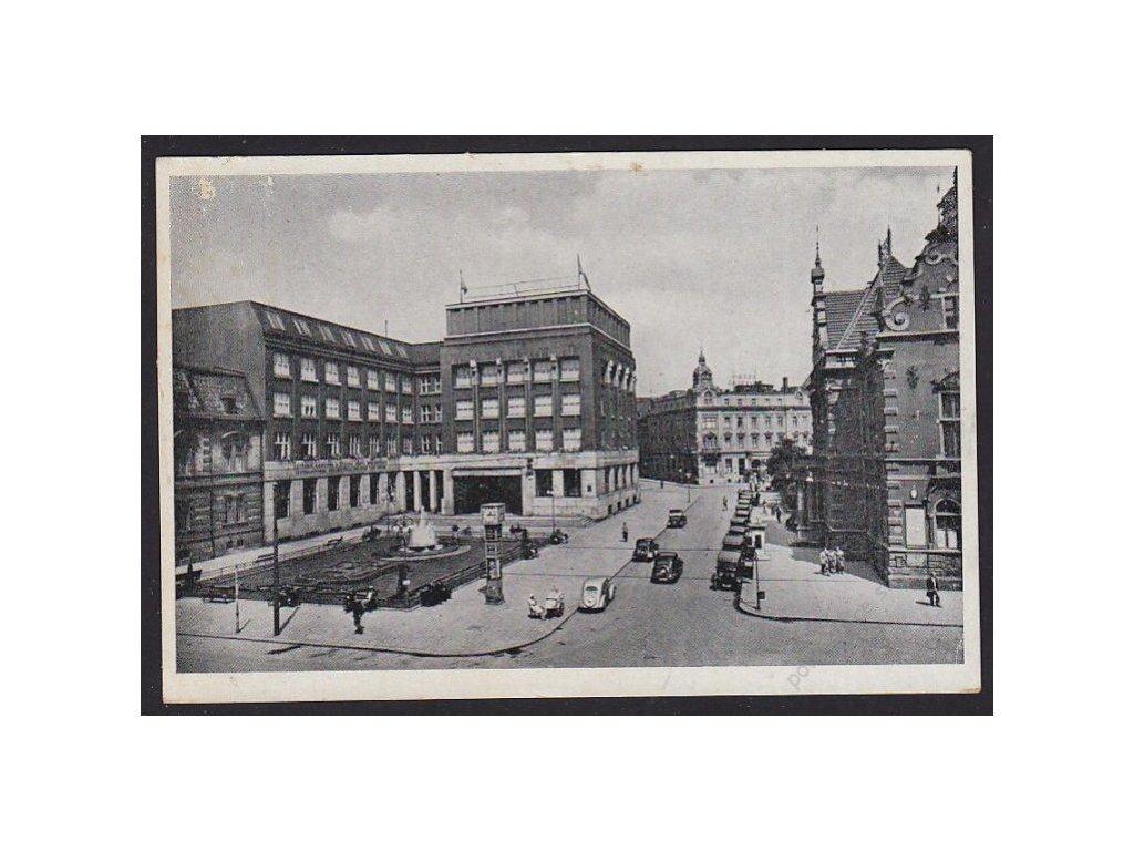 43 - Ostrava, (Ostrau), Mor. Ostrava, spořitelna, cca 1940