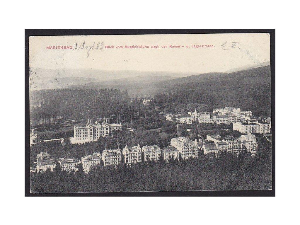 08 - Chebsko, Mariánské lázně (Marienbad), pohled na město, cca 1909