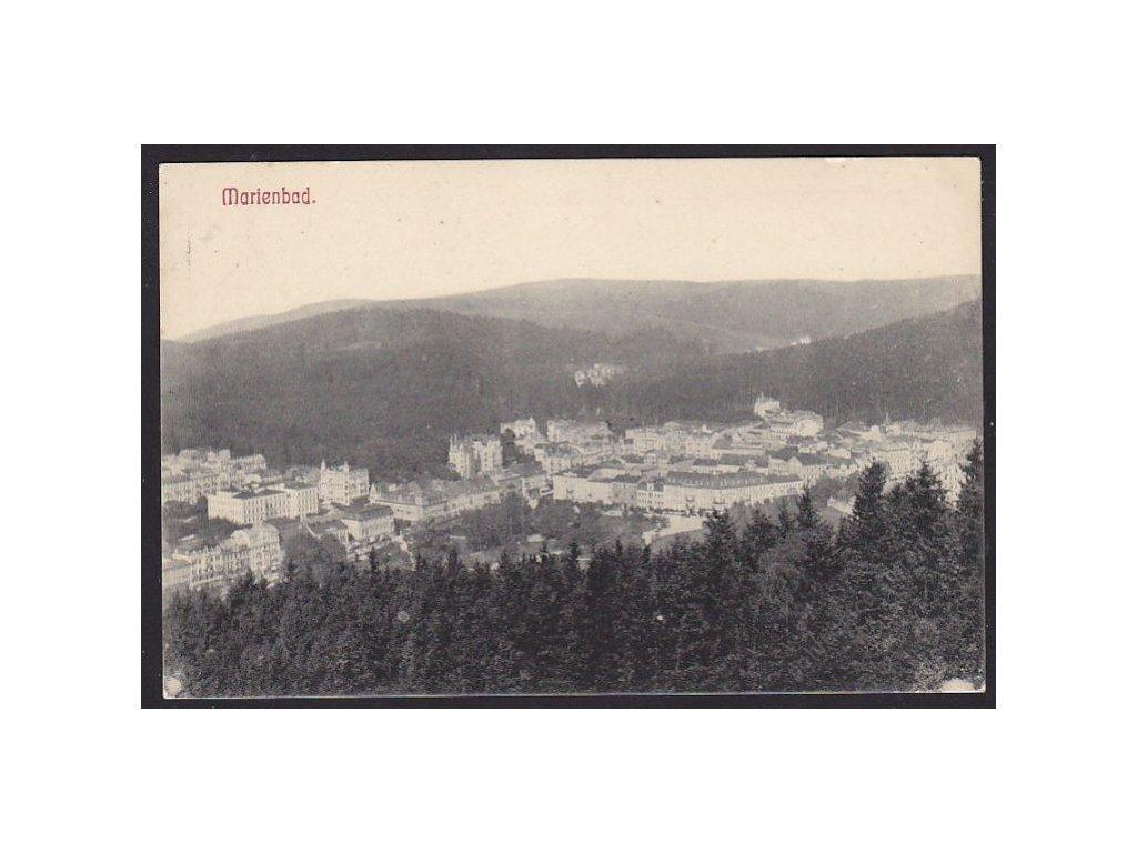 08 - Chebsko, Mariánské lázně (Marienbad), pohled na město, cca 1908