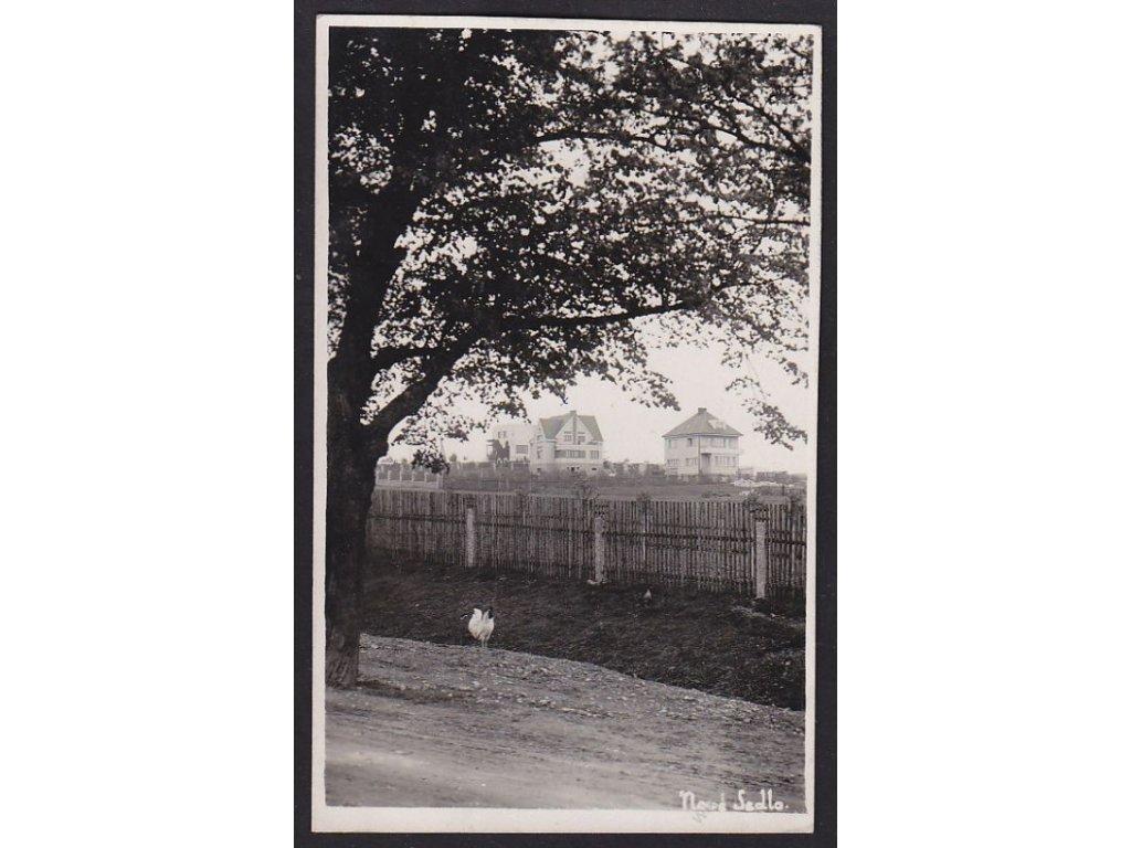 46 - Písecko, Nové Sedlo, pohled na část obce, cca 1940