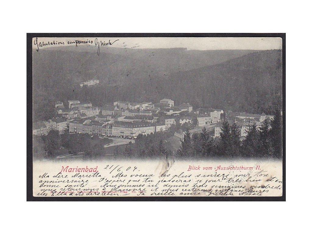 08 - Chebsko, Mariánské lázně (Marienbad), pohled na město, cca 1904